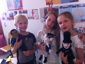 first-graders-misa-louisa-and-tania-and-the-usa-famous-people-misa-michael-louisa-and-tania-with-obama-washington-lincoln