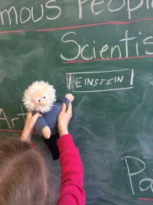 margaret-first-grade-and-einstein-by-his-name-on-board-famous-people-lesson