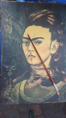 Frida Khalo painting, Bonn, Fest der Kulturen, May 2017