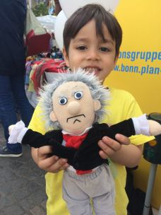 Beethoven is this child's favorite - at the Fest der Kulturen in Beethoven's birth city, Bonn 2017